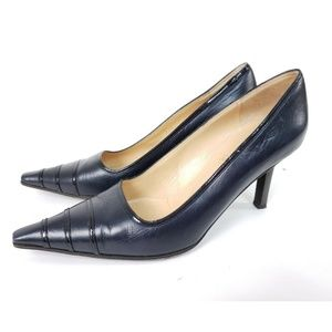 CHANEL Classic Black Point Toe Leather Pumps
